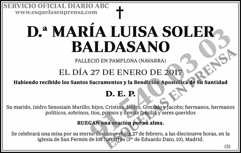 María Luisa Soler Baldasano